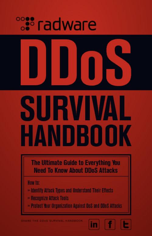 infoRisk Today - DDoS Resource Center InfoRiskToday.com #DDoS #Survival #Handbook http://security.radware.com/knowledge-center/