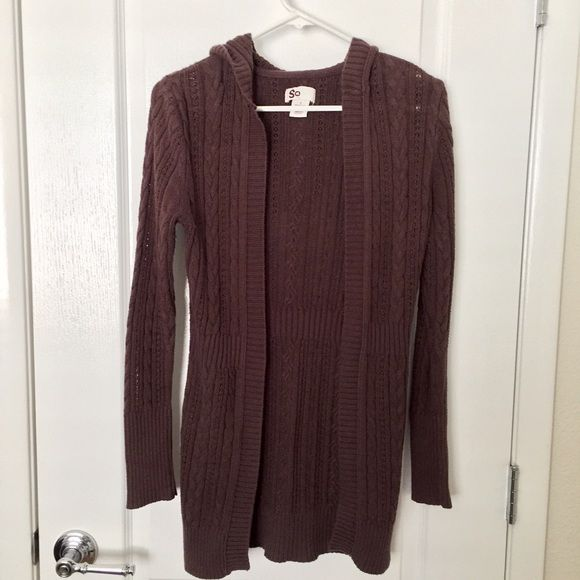 Dark brown cardigan Lightweight, but comfy. Gently used, so a ...