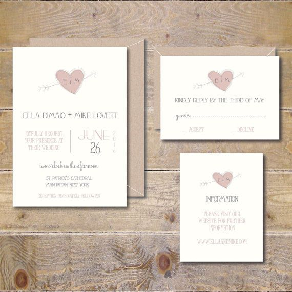 Printable Wedding Invitations DIY By SweetBellaStationery