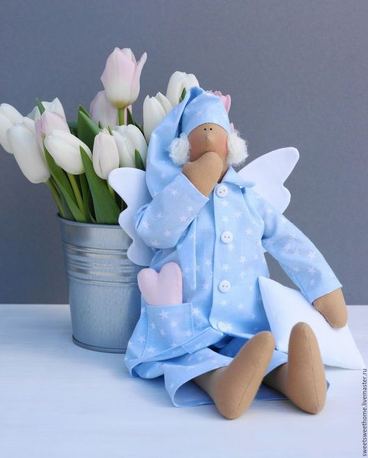 Куклы Тильды ручной работы. Сонный ангел. Irina Berezhnaya. Интернет-магазин Ярмарка Мастеров. Сонный ангел, ангел