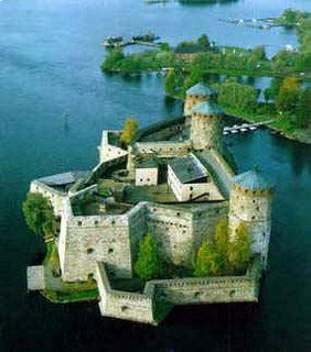 Olavinlinna Fortress, also known as Olofsborg (Swedish) or Olaf's Castle, is located on a small rocky islet in Lake Saimaa in Savonlinna, Finland.