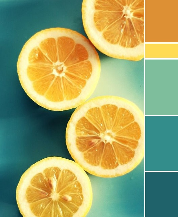 Teal orange and yellow colors theme for my house?