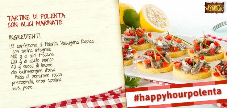 Hai già portato in tavola le saporite tartine con #alici marinate? Sono un'ottima idea per un aperitivo da leccarsi i baffi! #happyhourpolenta