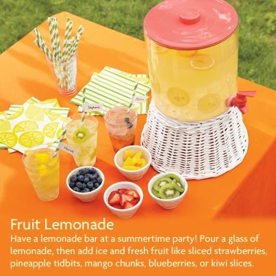 When life gives you lemons, add even more fruit flavors for a tasty summertime drink idea your girl will love!