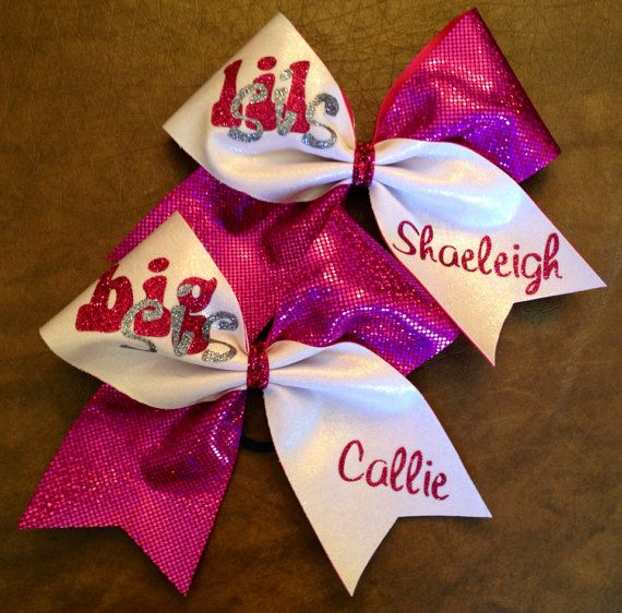 Cheer Bows  Personalized Big Sis Little Sis by FullBidBows on Etsy, $32.00
