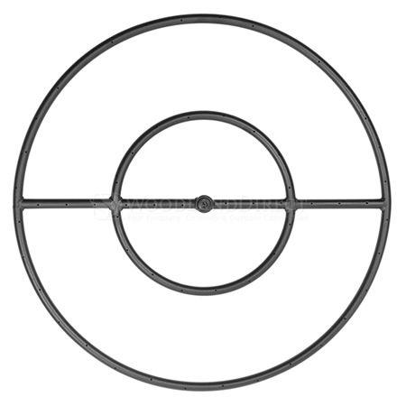 "Round Match Lit Fire Pit Ring Insert - Black - 24"" #LearnShopEnjoy"