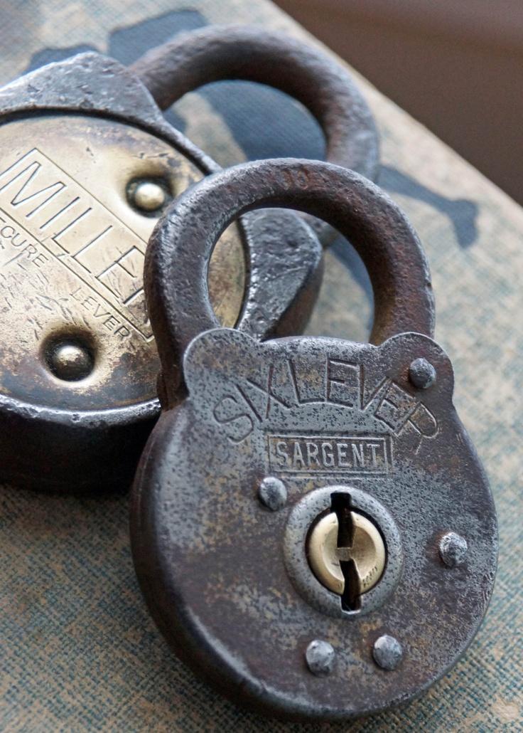 Vintage Six Lever Sargent Lock. $8.00, via Etsy.
