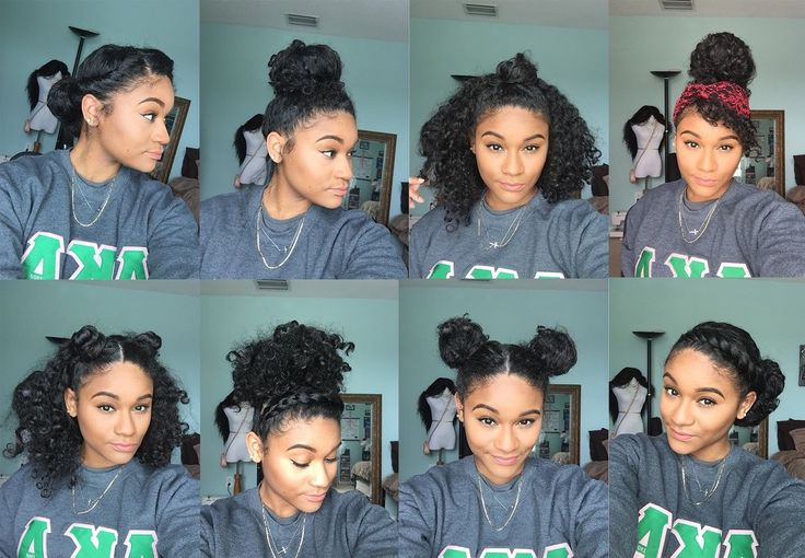 Natural hair | 8 Bun Styles for Curly Hair