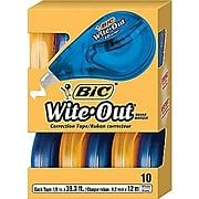 Shop BIC® Wite-Out® Brand EZ Correct Correction Tape, 10/Pack (50790) at Staples. Choose from our wide selection of BIC® Wite-Out® Brand EZ Correct Correction Tape, 10/Pack (50790) and get fast & free shipping on select orders.