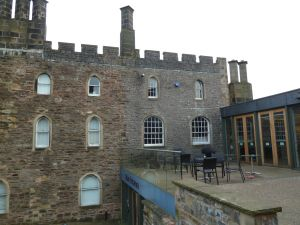 Afternoon at Clitheroe's Castle and museum in Lancashire.