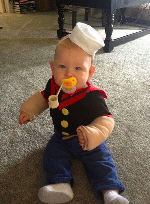 Disfraces caseros de bebé baratos