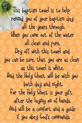 baptism towel poem, There are a ton of good talk ideas, and lessons for all LDS subjects!