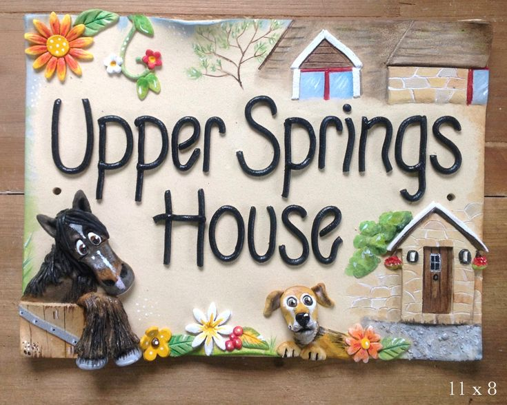 Have your house and home incorporated into your house sign, plus pets and people too - the most personalised house signs you can get!