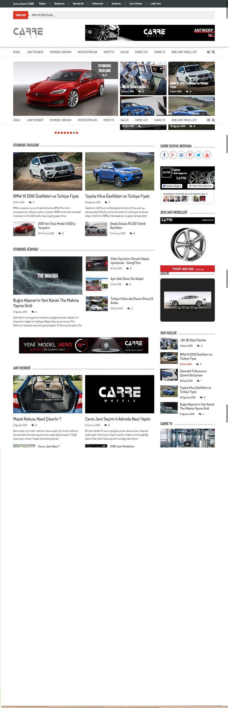 Carre Blog Web Tasarım #webtasarım #webdesign #wordpress #carreblog