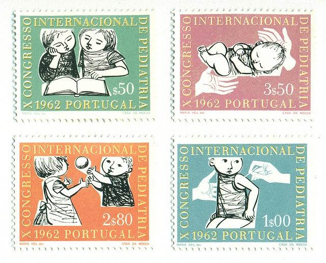 Portugal Stamps, Intl. Congress of Pediatrics, 1962