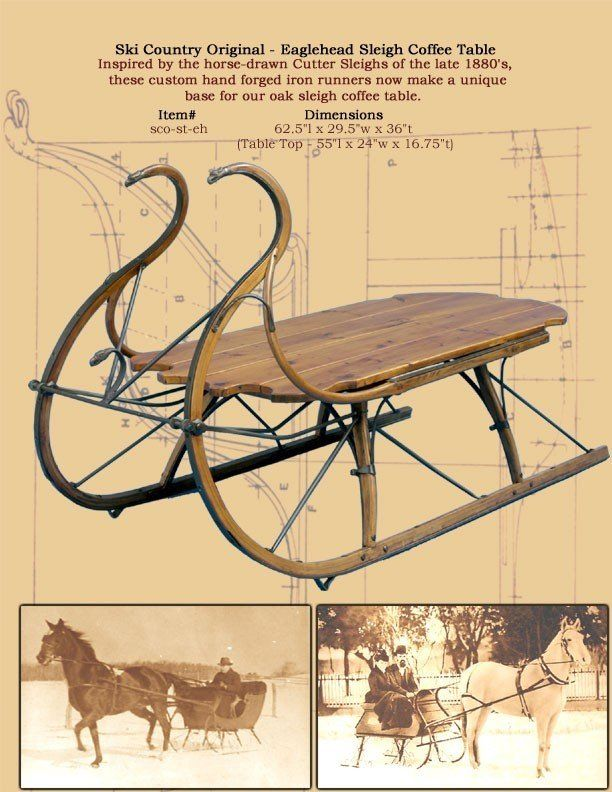 Sleigh Coffee Table Part - 47: Reproduction Furniture Eagle HEAD SLEIGH Coffee TABLE China (Mainland) Coffee  Tables