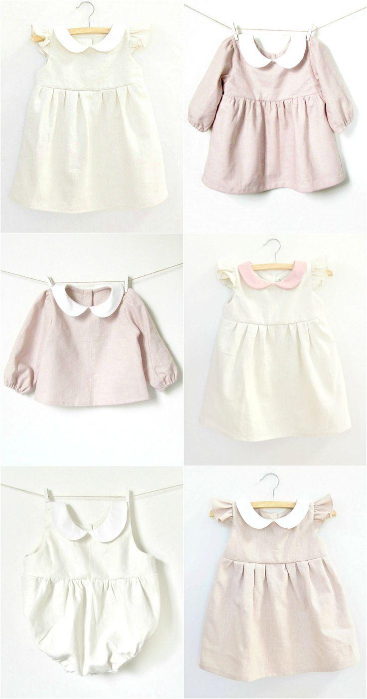 Les vêtements de bébé en lin style vintage les plus doux à la main chez Dabishoo sur Etsy