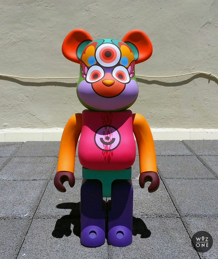 """Balu"" 1000% Bearbrick custom by WuzOne"