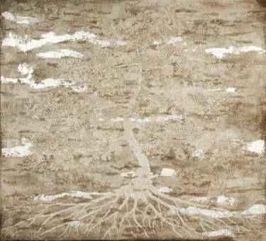 """Saatchi Art Artist Gian Luigi Delpin; Painting, """"tree in the mist"""" #art"""