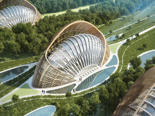 Eco-village designed by Belgian architect Vincent Callebaut in China
