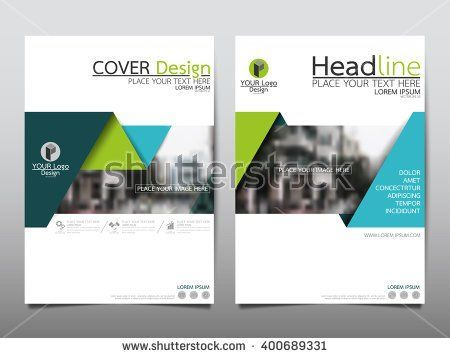 Green annual report brochure flyer design template vector, Leaflet cover presentation abstract flat background, layout in A4 size - stock vector