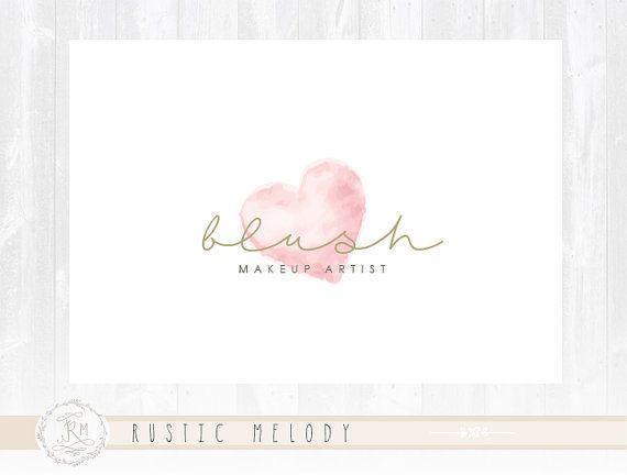 Makeup Artist Logo Heart Logo Photography Logo by RusticMelody1