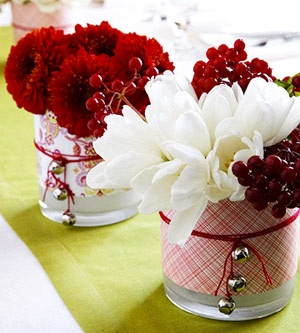 These would be so cute down the middle of Christmas dinner table!