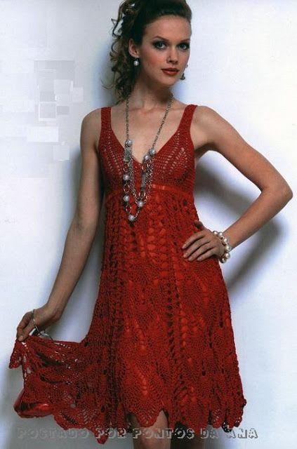Vestido vermelho para o verão