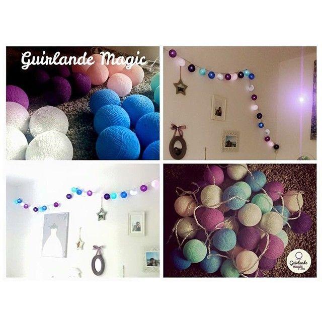 Du montage à la decoration!  #guirlandelumineuse #decoration #lights #boulesdecoton