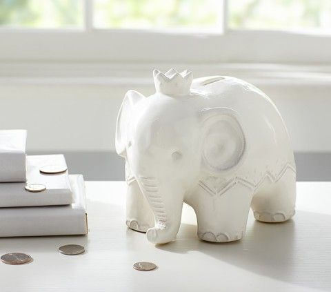 Save Up In Style With This Porcelain White Elephant Piggy Bank From Pottery Barn Keep The Kids Hy Pinterest Banks And