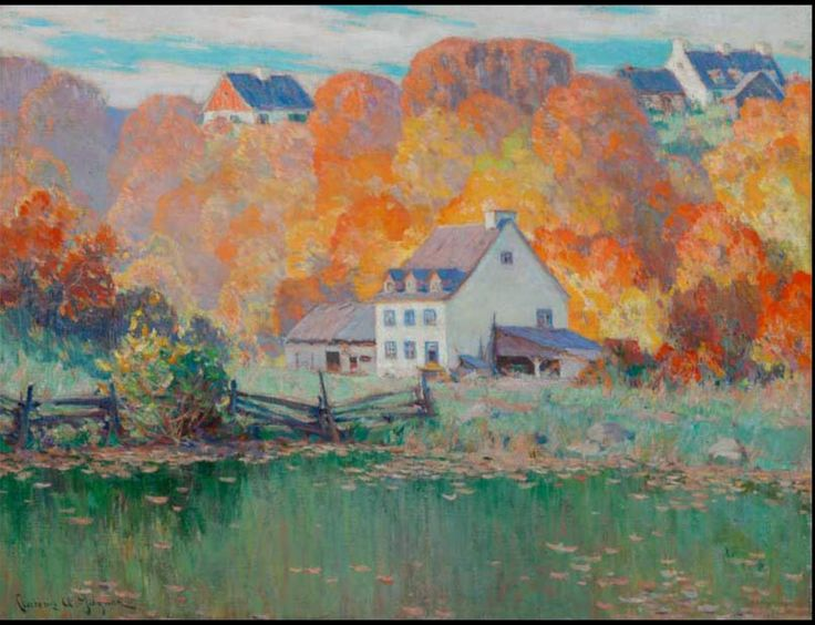 Clarence Gagnon, The Old Mill, Indian Summer
