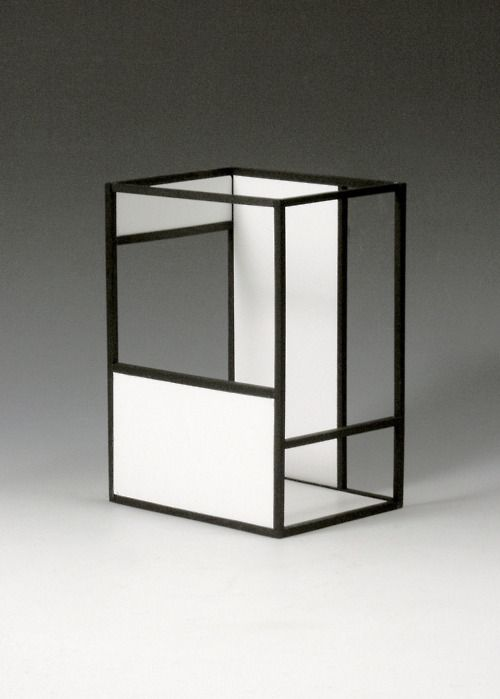 ★ installations of Esther Stocker, based on grid structures and on the colors black, white and gray