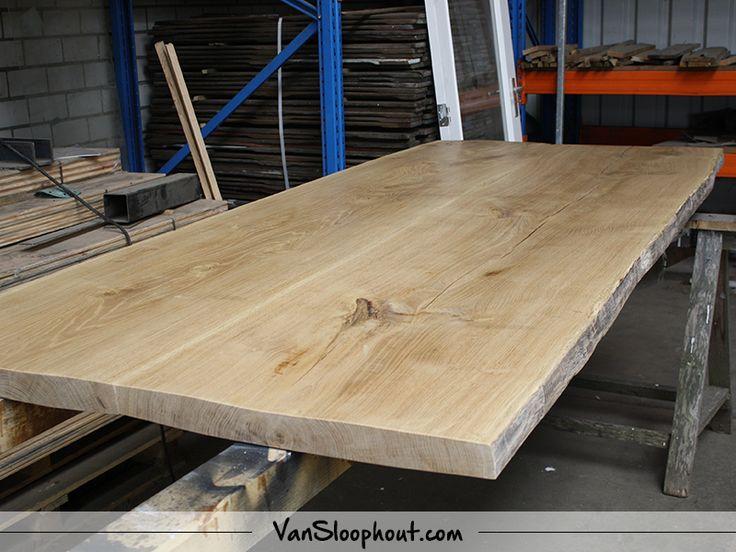 Boomstam tafelblad 6cm dik. #reclaimed #wood #boomstam #tafelblad #hout #meubels #wooninspiratie #interieur #wonen