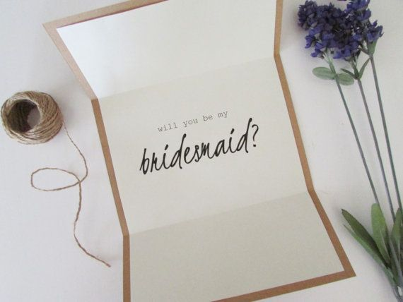 Will You Be My Bridesmaid Card  Personalized by eFowCreations