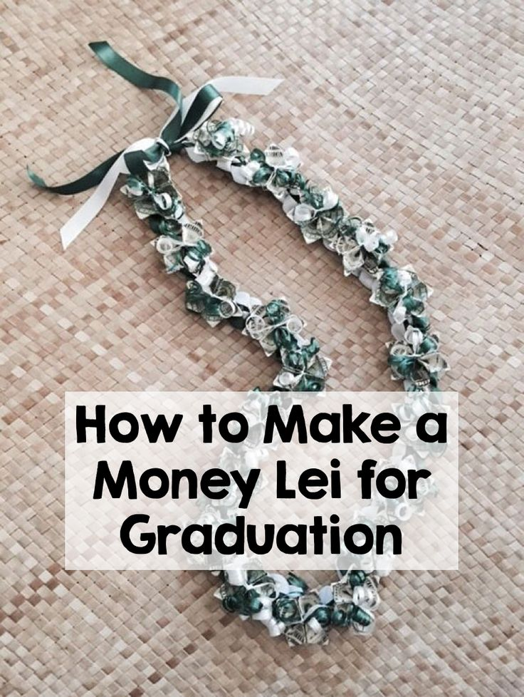 Wearing a lei on graduation day is a popular tradition for many families, but usually the lei is made out of flowers that will inevitably wilt. Try your hand at a DIY lei made out of money that doubles as a monetary gift for the graduate! Not only is it fun and unique, but it makes a great graduation present. Your graduate's classmates will be so jealous! All you need are dollar bills, craft ribbon, scissors, tape, and straws. Head to eBay for the instructions and bling out graduation day.