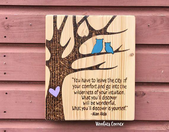 Owl Decor Custom Wooden House Signs Personalized Quote Home Wooden Signs Owl Decor Home Signs