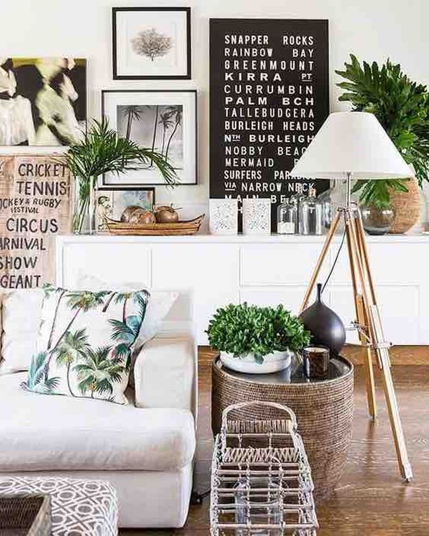 Palm Trees | Beachy Living Room Ideas: How to Bring the Beach To Your Home