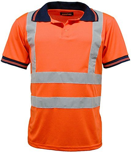 From 6.19:High Vis Visibility Short Sleeve Polo T Shirt En471 - Hv004