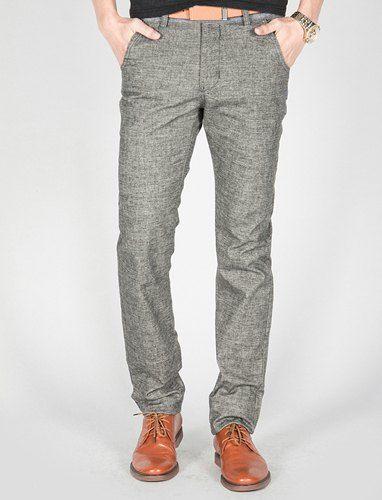 Fashion Straight Leg Rivets Design Hit Color Splicing Slimming Linen Pants For Men