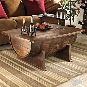 Handmade Vintage Oak Whiskey Barrel Coffee Table at Wine Enthusiast - $699.00