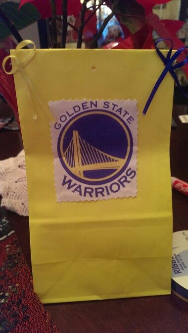 My Son Birthday Goodie Bags Go Golden State Warriors