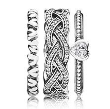 Love is in the air for this holiday - a perfect stack of rings #PANDORAring