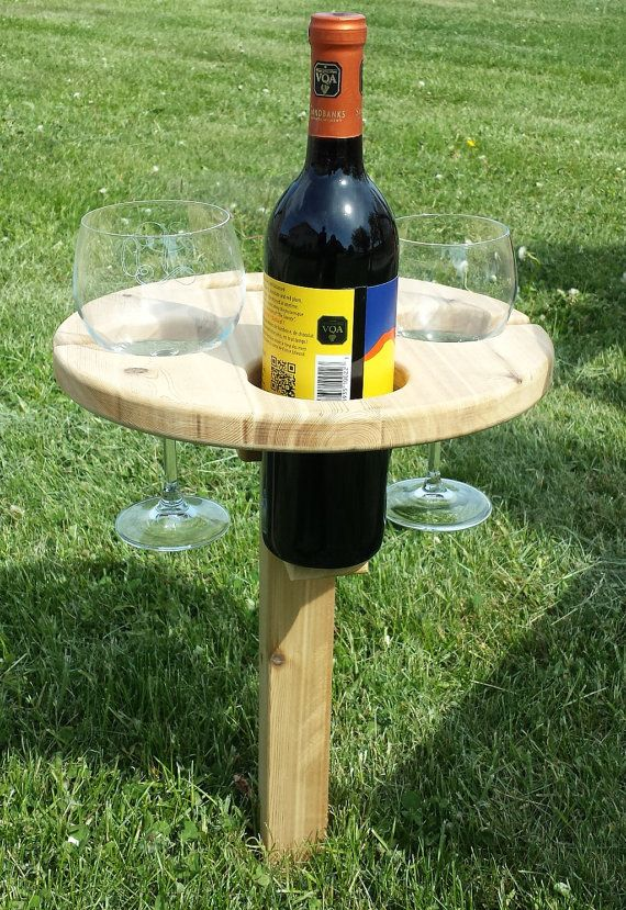 Outdoor Cedar Wine Table