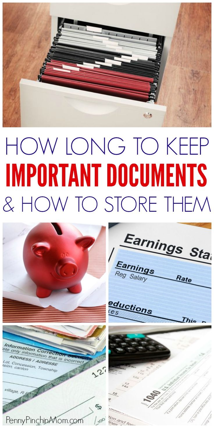 How to organize documents at home    Document file organization | how long to keep documents | organize documents ideas | paper clutter | tips to organize documents | organize paperwork via @PennyPinchinMom