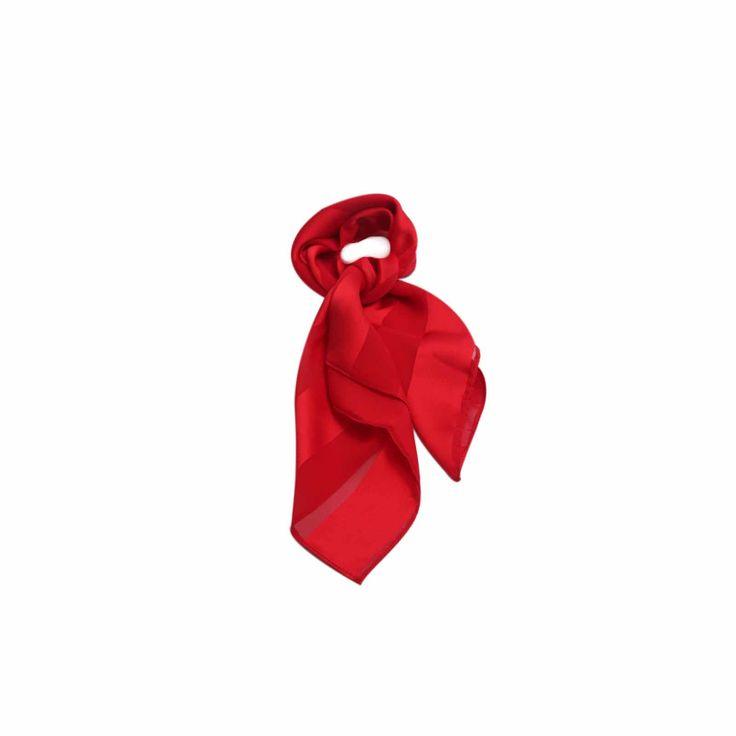 Lenço Listrado Vermelho de Seda #lenços #lenço #scarf #scarfs