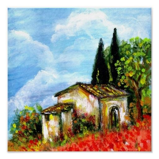 POPPIES IN TUSCANY PRINT