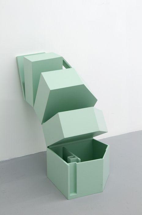 Aï Kitahara, Démolir-reconstruire II, 2009 Wood and paint — 53 × 30 × 25,5 cm — one piece Courtesy Galerie Bertrand Grimont (via Aï Kitahara — Portfolio — Slash Paris)