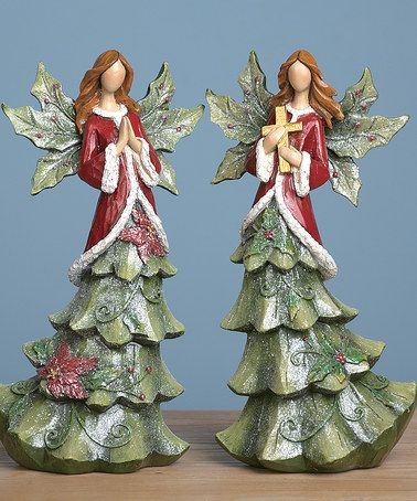 Take a look at this Tree Angel Figurine Set by Transpac Imports on #zulily today!