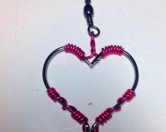 Fish Hook Necklace/Fish Hook Jewelry/Wire Wrapped Fish