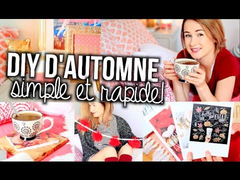 DIY DÉCO D'AUTOMNE! Inspiration TUMBLR!! | Emma Verde - YouTube
